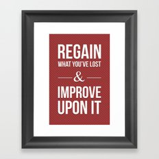 Improve Upon It Framed Art Print