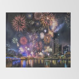 Fabulous Fireworks Throw Blanket