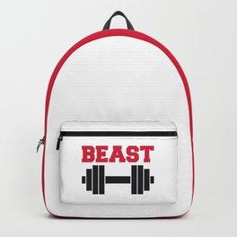 Beast Barbells Gym Quote Backpack