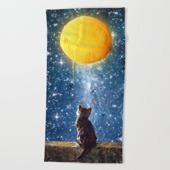 A Yarn of Moon Beach Towel