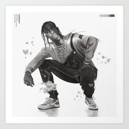 La Flame in Sicko Mode Art Print