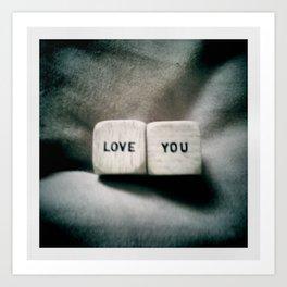 Love You Art Print