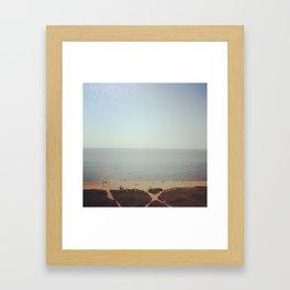 Lake Michigan 1973 Framed Art Print