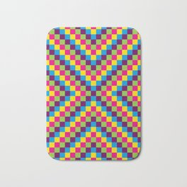 Simple Grid on Summer Bath Mat