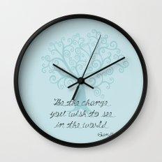 Be The Change Tree Wall Clock