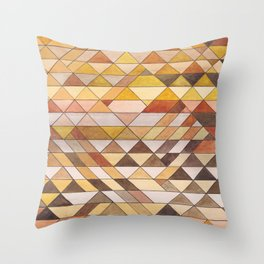Triangle Pattern Fall Colors Throw Pillow