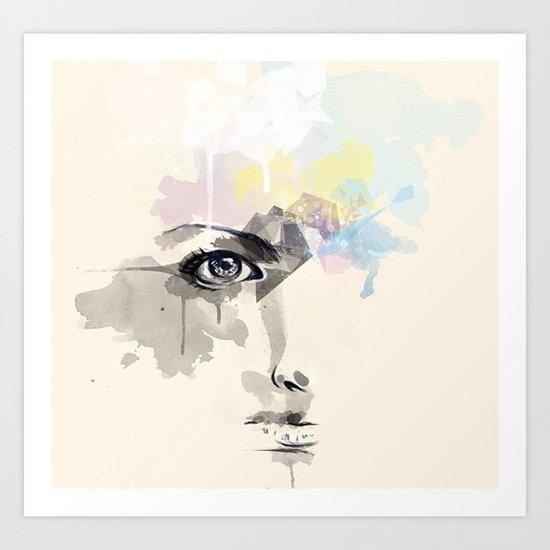 Beyond Her Tears  Art Print