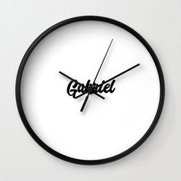 Gabriel Custom Text Birthday Name Wall Clock