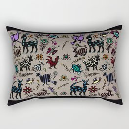 Happy Animals Rectangular Pillow