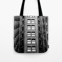 building Tote Bags featuring Building by Conor O'Mara