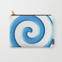 Blue Spiral Carry-All Pouch