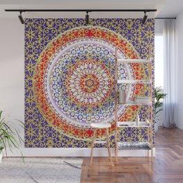 Violet Baroque Mandala Wall Mural