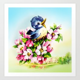 Morning Bluebird Art Print