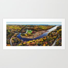 Acacia Valley Panorama Art Print