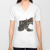 new orleans V-neck T-shirts featuring New Orleans by BigRedSharks