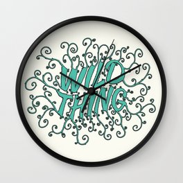Wild thing Wall Clock