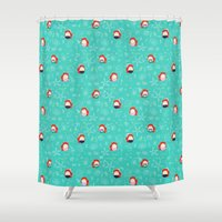ariel Shower Curtains featuring Ariel by Laura's Lovelies