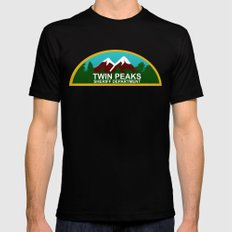 Twin Peaks: Twin Peaks Sheriff's Department Mens Fitted Tee Black X-LARGE