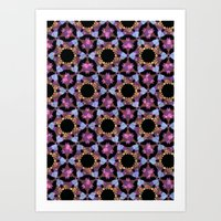 psychadelic Art Prints featuring Psychadelic space by Stephanie Parnell