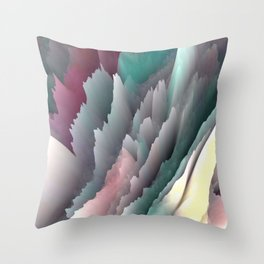 Jagged Jasper Mountains - Abstract Art by Fluid Nature Throw Pillow