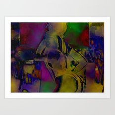 Cyber Dancer Taste the Rainbow Art Print