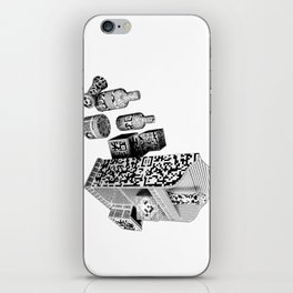 Black and White Everyday Life Internet of Things iPhone Skin