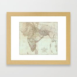 Map of India by James Rennell (1788) Framed Art Print
