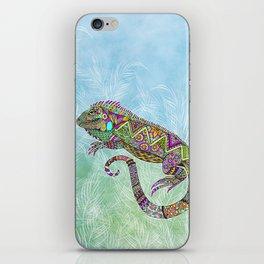 Electric Iguana iPhone Skin