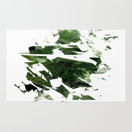 Abstract Acrylic Painting  Broken Glass THE FOREST --Modern art Rug