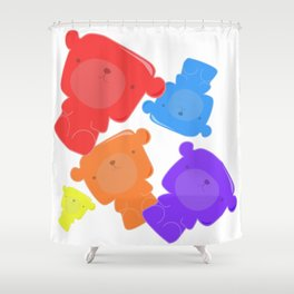 Squishy Squad Shower Curtain