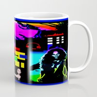 jay z Mugs featuring SOUNDS OF HIP HOP by KEVIN CURTIS BARR'S ART OF FAMOUS FACES