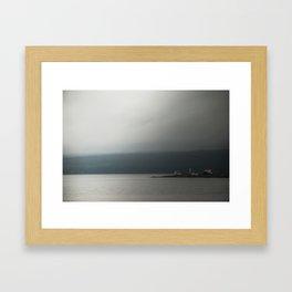Into the Roiling Fog Framed Art Print