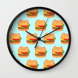 Cat Food - Hamburger Wall Clock