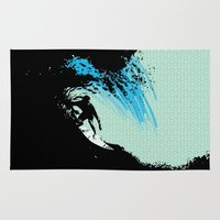 surfing Area & Throw Rugs featuring Surfing by CSNSArt