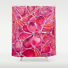 Orchid Wall – Magenta Palette Shower Curtain