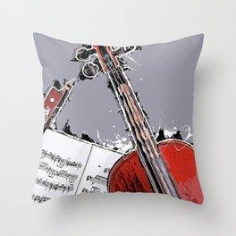 Violin music art #violin #music Throw Pillow