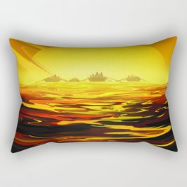 Titan NASA Space Travel Poster Futuristic Adventure Rectangular Pillow
