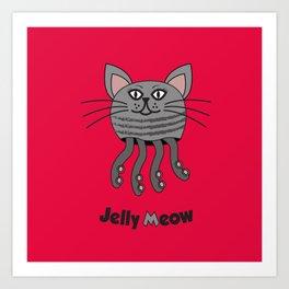 Jelly Meow Art Print