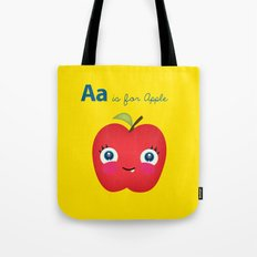 A is for Apple Tote Bag