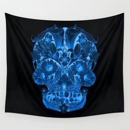 OG Floral Skull II Wall Tapestry