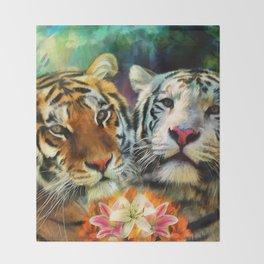 Tiger Lillies Throw Blanket