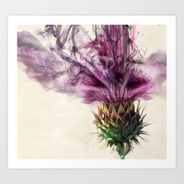 Purple thistle explosion Art Print