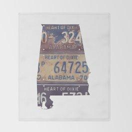 Vintage Alabama Throw Blanket