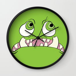 Little Green Monster Wall Clock
