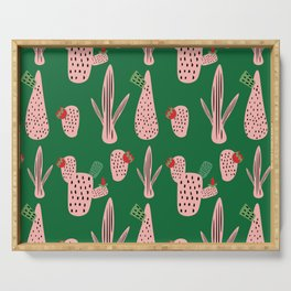 Mid Mod Cactus Green Serving Tray