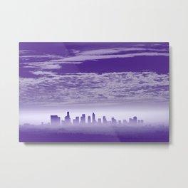 Ultra Violet Downtown LA Cityscape Metal Print