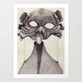 Meeting With Beksinski Art Print