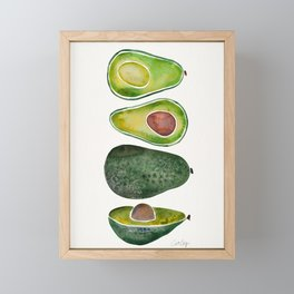 Avocado Slices Framed Mini Art Print