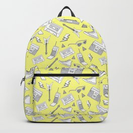 Livin in the 90s // Retro Yellow Backpack
