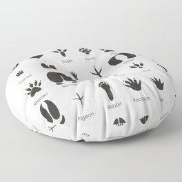 Common Animal Tracks Floor Pillow
